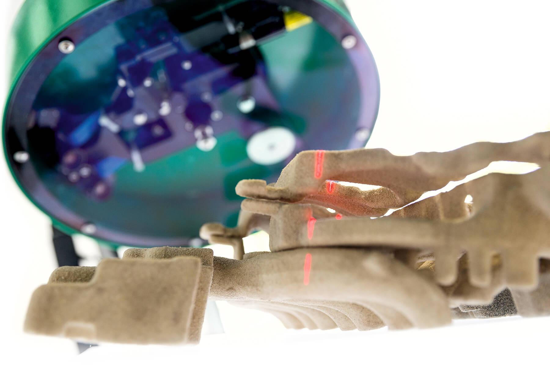 Der SpinScan3D erfasst komplexe Objekte hochgenau