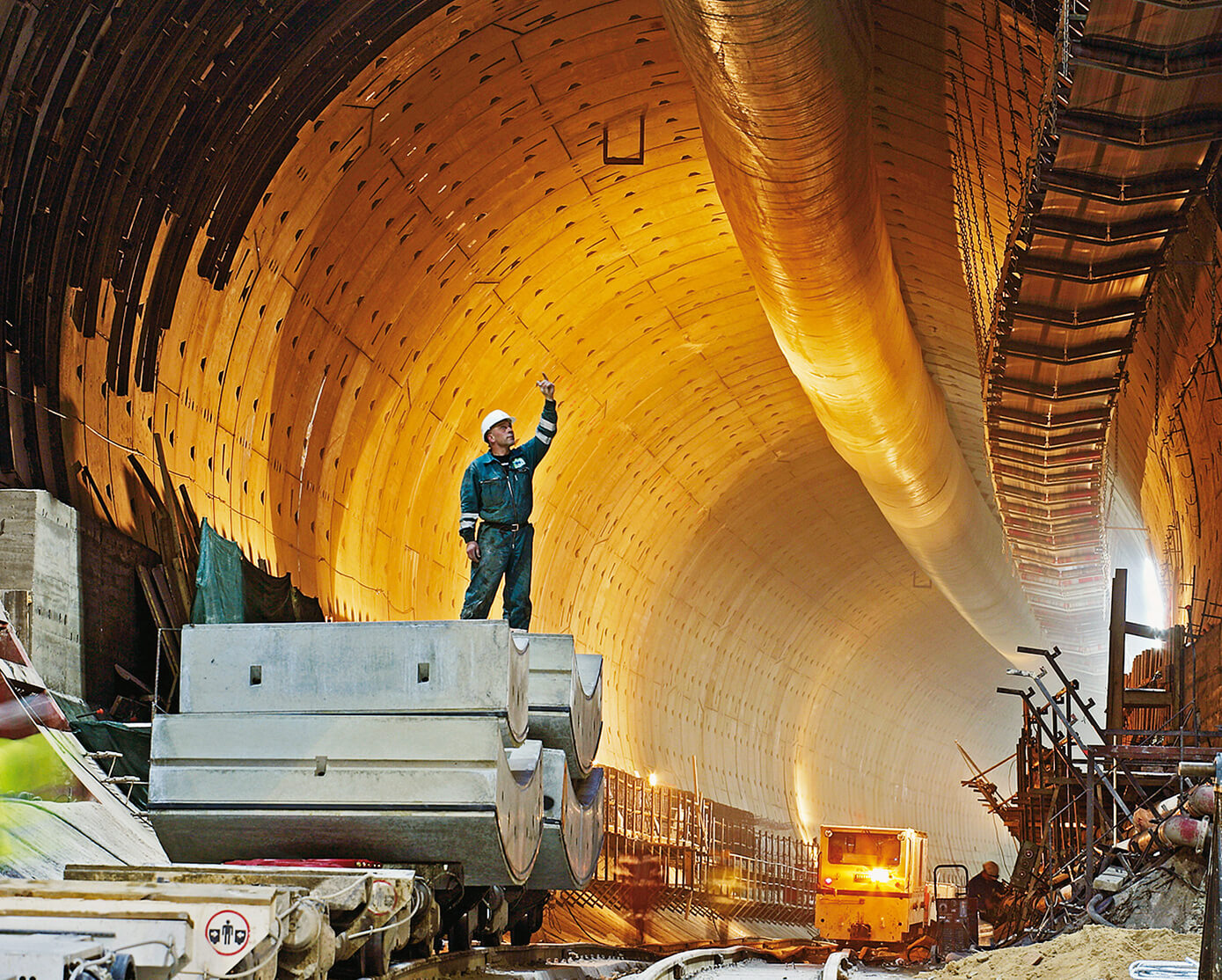 Tunnel construction involves some special conditions