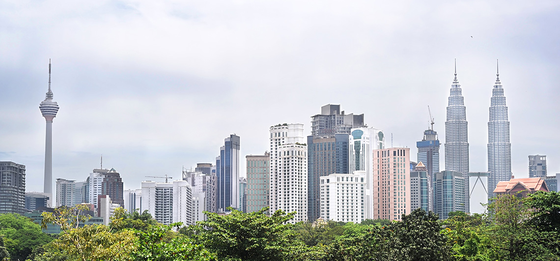 skyline, Kuala Lumpur, Malaysia, Petronas Twin Towers, Pepperl+Fuchs, sales office, site, opening ceremony