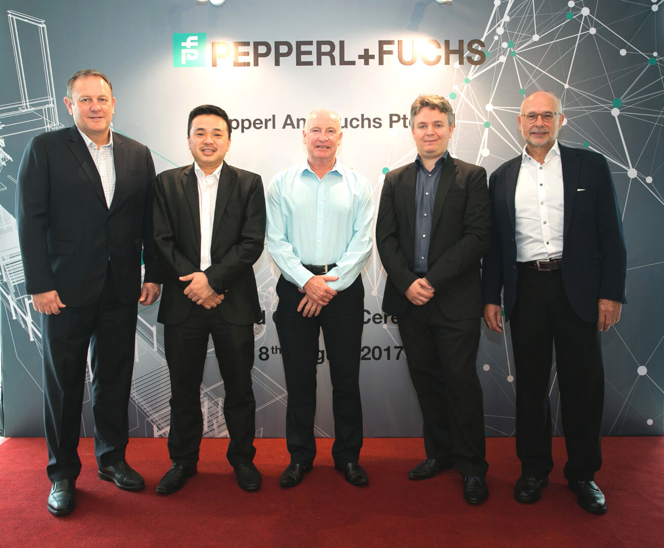 Inauguration, Pepperl+Fuchs, sales office, Petaling Jaya, Selangor, Malaysia, Matthias Gunkel, Shane Parr, Steven Lim, Simon Sumner, Bryan McHutchison