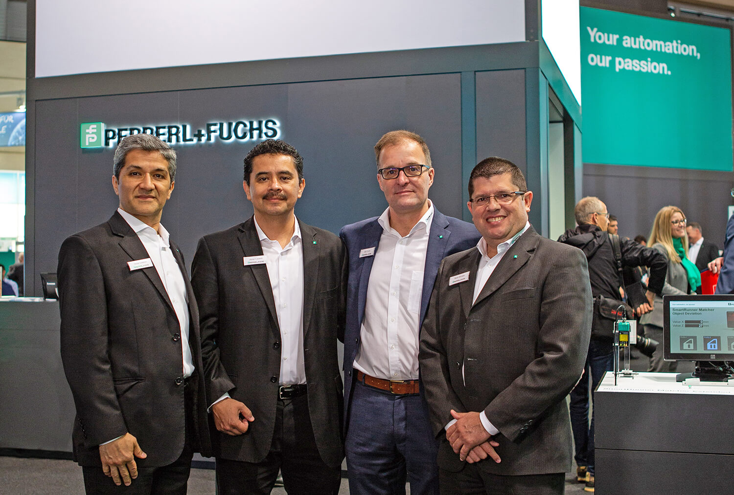 Pepperl+Fuchs North America staff at Hannover Messe 2018: