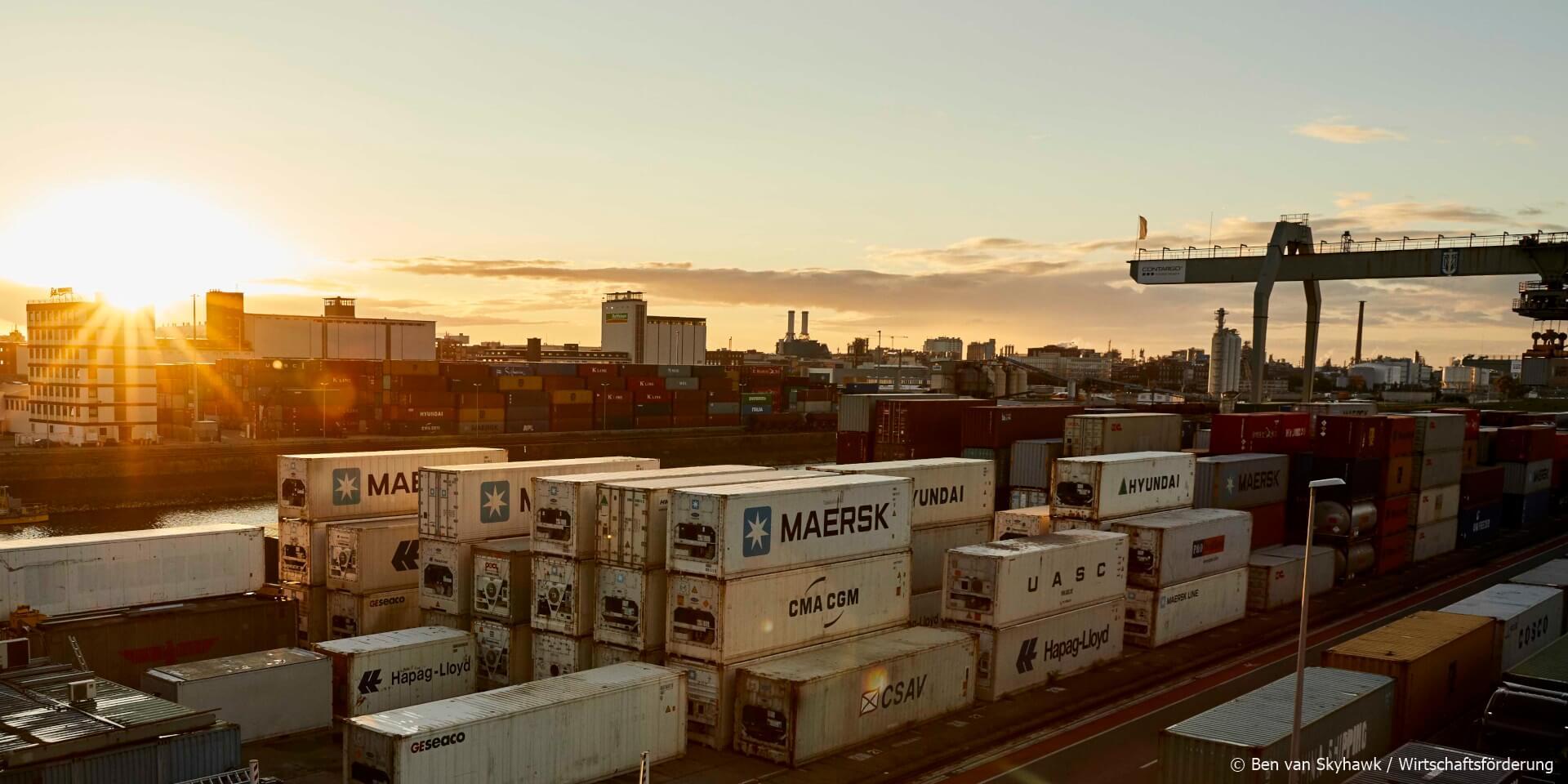 Container port Mannheim