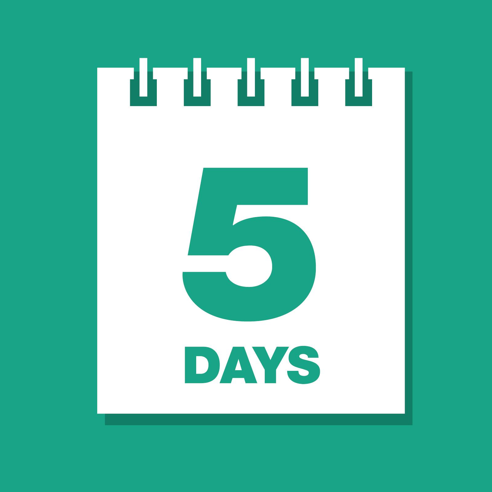 Five day guarantee