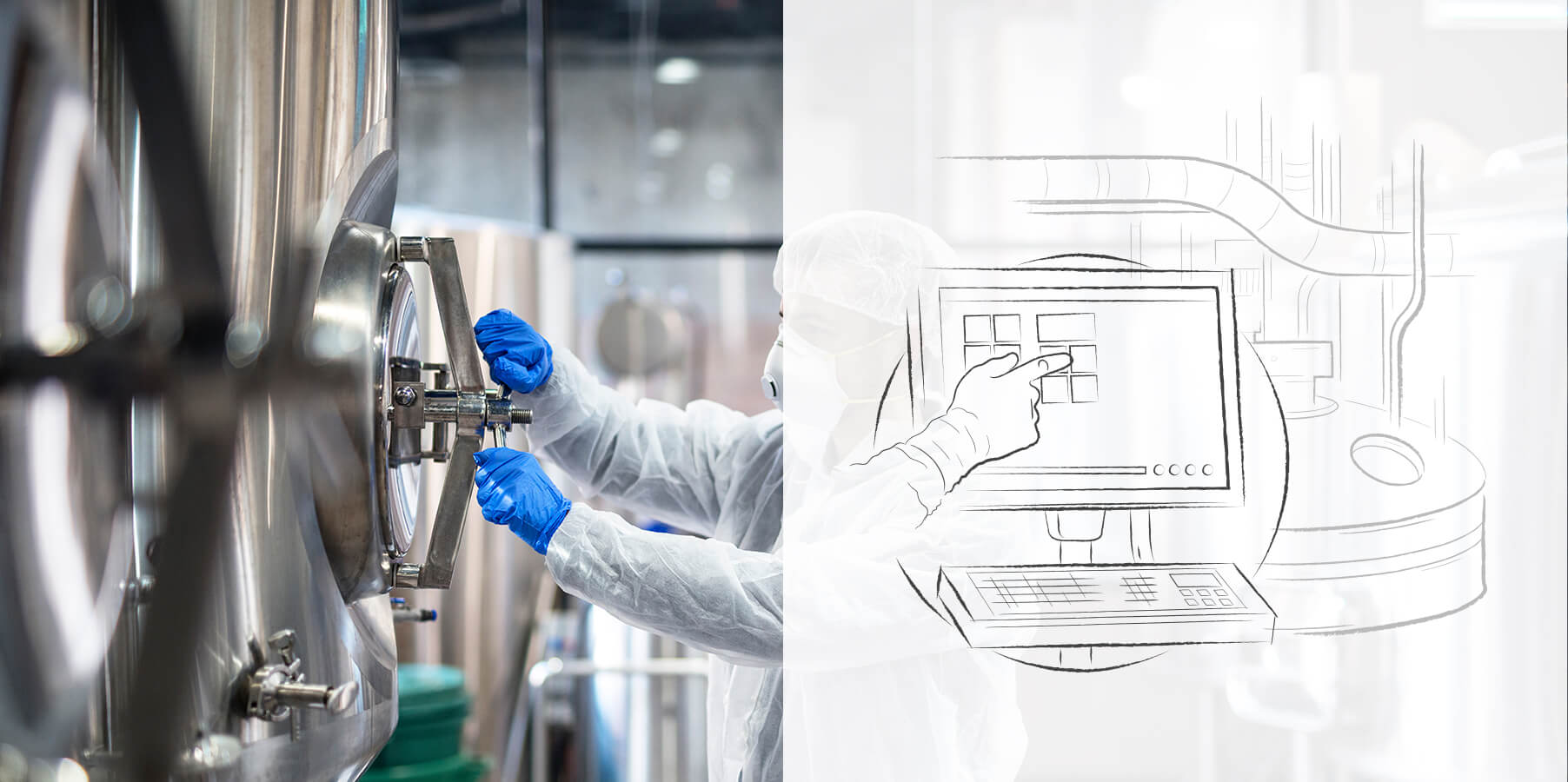 Industrial Monitors+HMI Solutions in pharmaceutical plants.