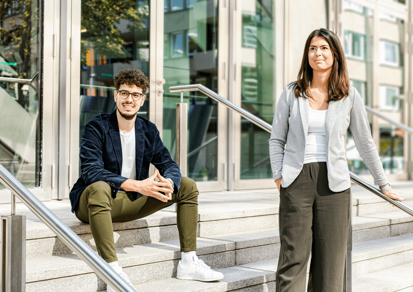 Celine Mehrle and Daniel Möst, New Business Development at Pepperl+Fuchs Vertrieb Deutschland GmbH